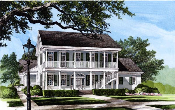 Colonial Southern House Plan 86117 Elevation