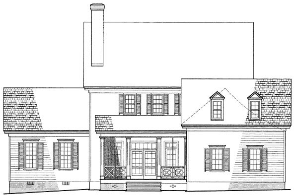 Colonial Southern House Plan 86117 Rear Elevation