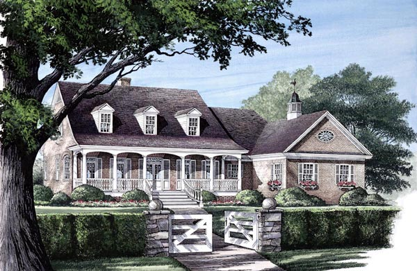 Southern , Farmhouse , Country , Cape Cod House Plan 86118 with 4 Beds, 3 Baths, 2 Car Garage Elevation