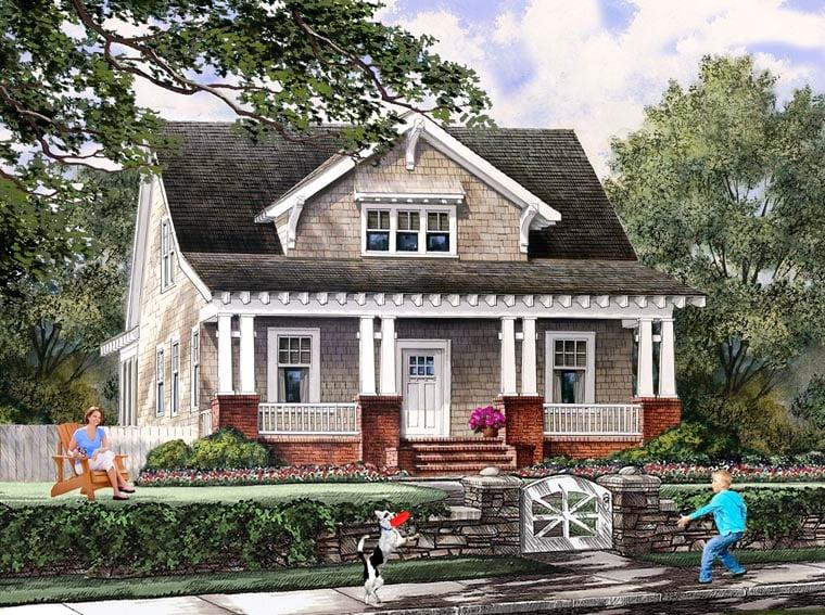 Bungalow Cottage Craftsman Farmhouse House Plan 86121 Elevation