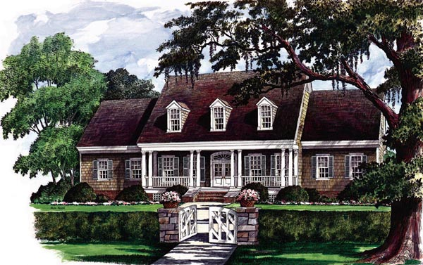 Cape Cod Country Traditional House Plan 86122 Elevation