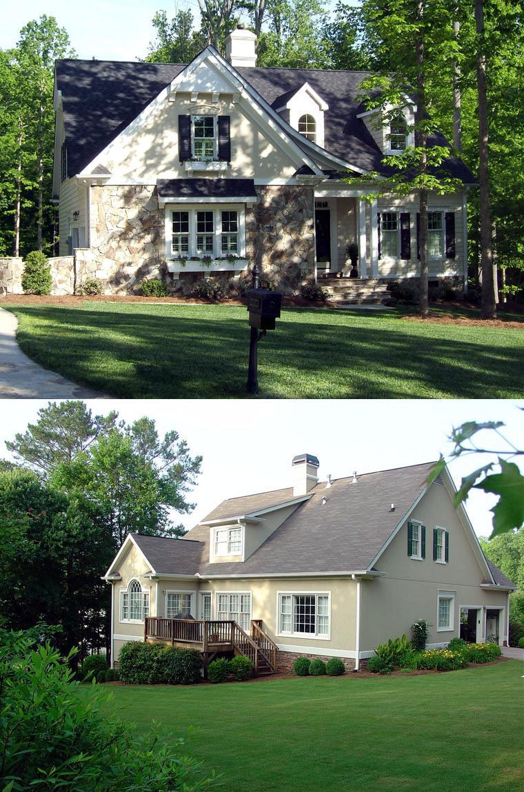 Cottage country craftsman european house plan 86123 for European bungalow house plans