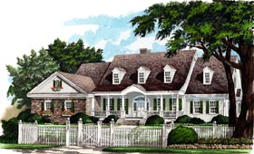 Colonial , Country , Farmhouse , Southern House Plan 86124 with 3 Beds, 3 Baths, 2 Car Garage Elevation