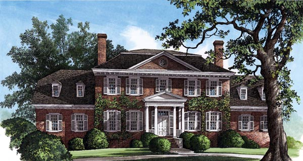 Colonial Plantation Southern House Plan 86126 Elevation