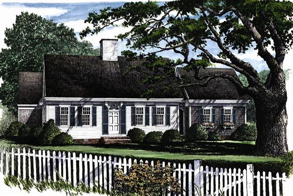 Cape Cod, Traditional House Plan 86129 with 3 Beds, 3 Baths, 2 Car Garage Elevation