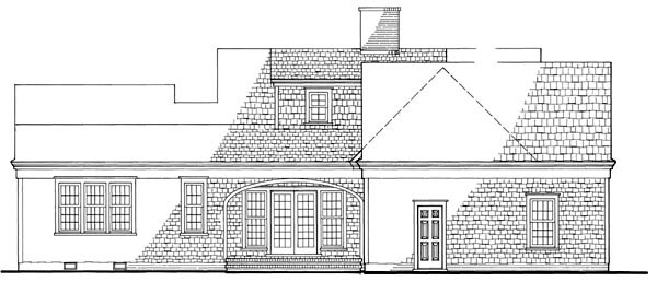 Cape Cod, Traditional House Plan 86129 with 3 Beds, 3 Baths, 2 Car Garage Rear Elevation
