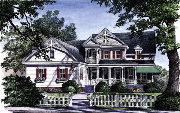 Country , Farmhouse , Victorian House Plan 86130 with 4 Beds, 4 Baths, 2 Car Garage Elevation