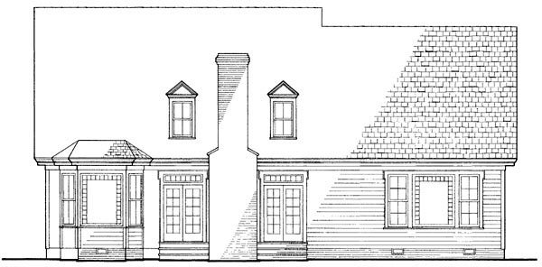 Country , Farmhouse , Victorian House Plan 86130 with 4 Beds, 4 Baths, 2 Car Garage Rear Elevation