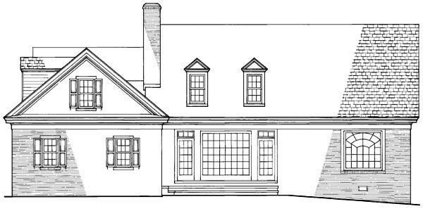 Traditional House Plan 86131 Rear Elevation