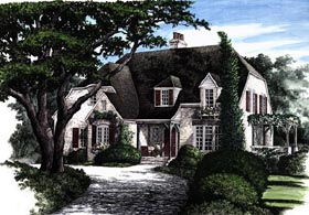 European Tudor House Plan 86132 Elevation
