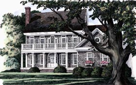 Colonial Southern House Plan 86136 Elevation
