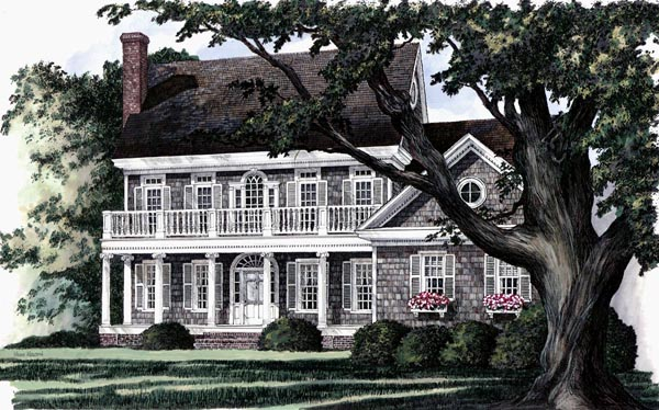 Colonial southern house plan 86136 for Historic southern house plans