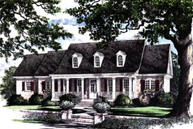 House Plan 86137 | Traditional Style Plan with 2215 Sq Ft, 4 Bedrooms, 4 Bathrooms, 2 Car Garage Elevation