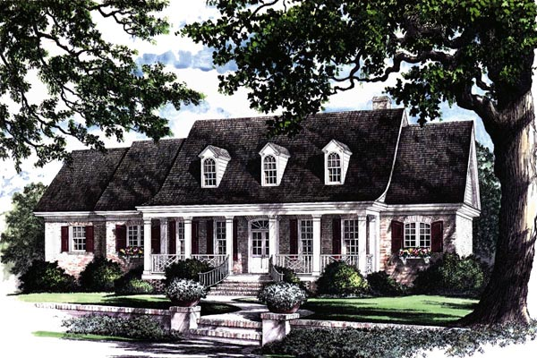 Traditional , Elevation of Plan 86137