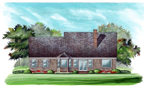 Colonial Cottage Country Southern House Plan 86141 Rear Elevation