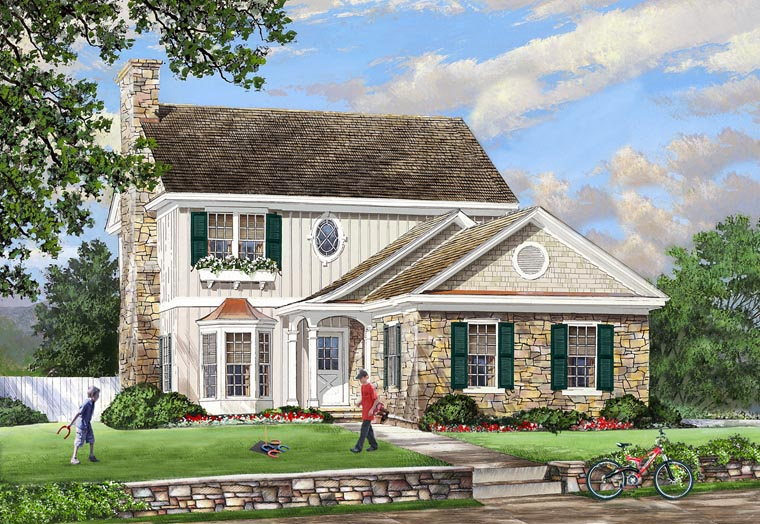 Cottage , Country , Traditional , Elevation of Plan 86142