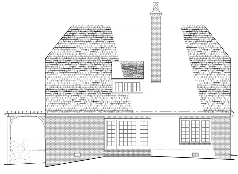 Cottage House Plan 86154 Rear Elevation