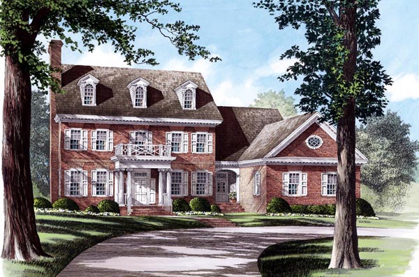 Colonial Southern House Plan 86158 Elevation