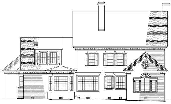 Colonial Southern House Plan 86158 Rear Elevation
