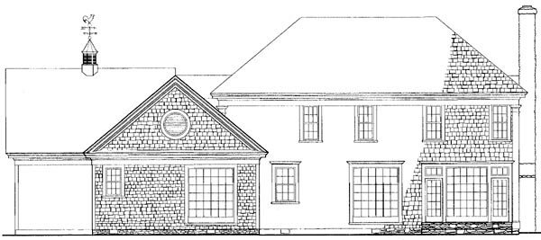 Traditional House Plan 86159 Rear Elevation