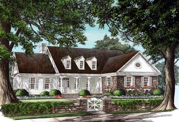 Cottage Country Farmhouse Traditional Elevation of Plan 86160