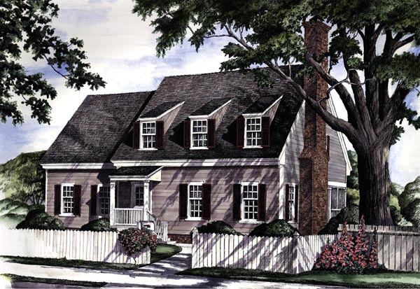 Colonial Cottage Country Farmhouse Southern Traditional House Plan 86161 Elevation