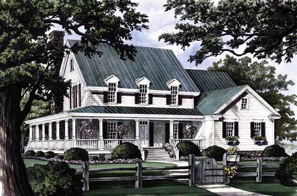 Country farmhouse southern house plan 86162 elevation