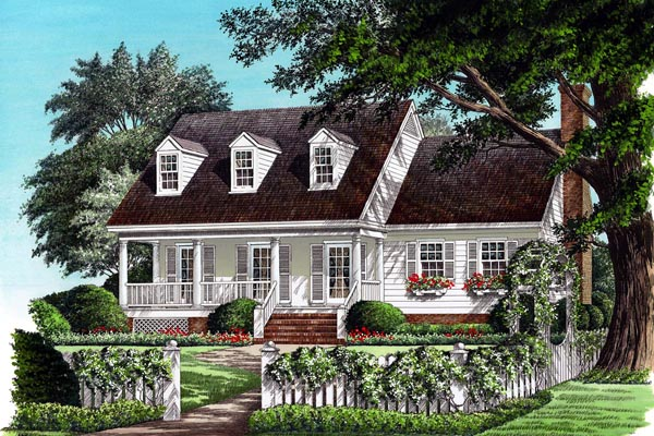 Cottage Country Farmhouse Traditional House Plan 86163 Elevation