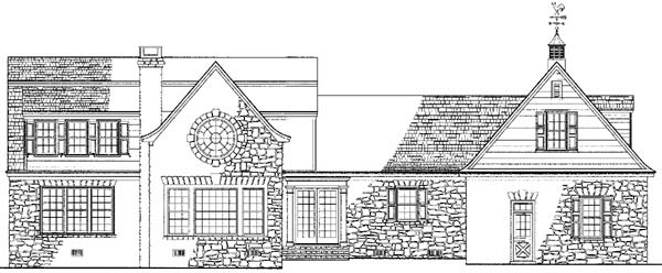 Country Farmhouse House Plan 86165 Rear Elevation