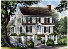 Colonial , Cottage , Country , Farmhouse House Plan 86166 with 4 Beds, 4 Baths, 2 Car Garage Elevation