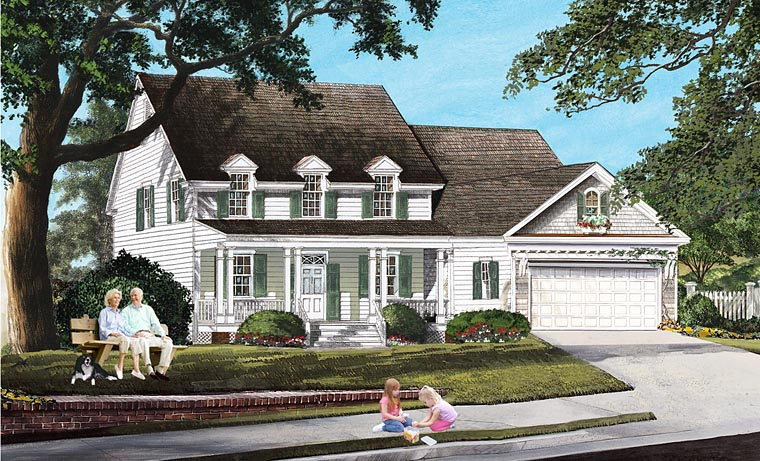 Country Farmhouse Traditional House Plan 86167 Elevation