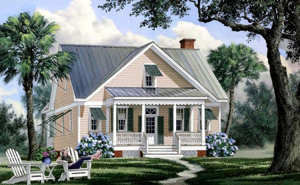 Bungalow , Cape Cod , Cottage , Country House Plan 86169 with 4 Beds, 4 Baths Elevation
