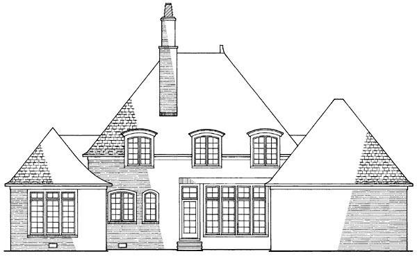 Ranch Traditional Rear Elevation of Plan 86170