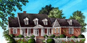 Plantation Ranch Traditional House Plan 86171 Elevation