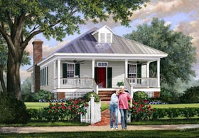 Bungalow Country House Plan 86172 Elevation