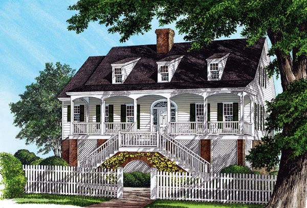 Colonial Southern Traditional House Plan 86176 Elevation