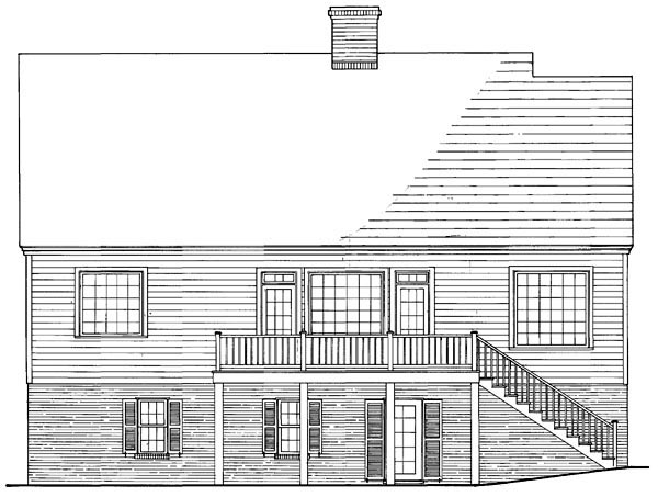 Colonial Southern Traditional House Plan 86176 Rear Elevation