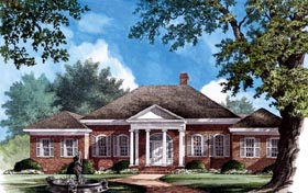 House Plan 86177 | Southern Style Plan with 3600 Sq Ft, 4 Bedrooms, 4 Bathrooms, 3 Car Garage Elevation