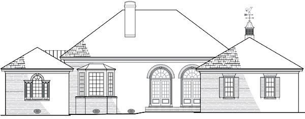 Southern House Plan 86177 Rear Elevation