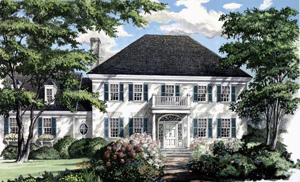 Colonial Southern Traditional House Plan 86179 Elevation