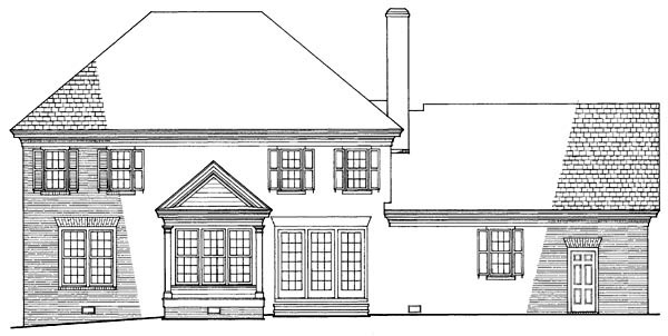 Colonial Southern Traditional House Plan 86179 Rear Elevation