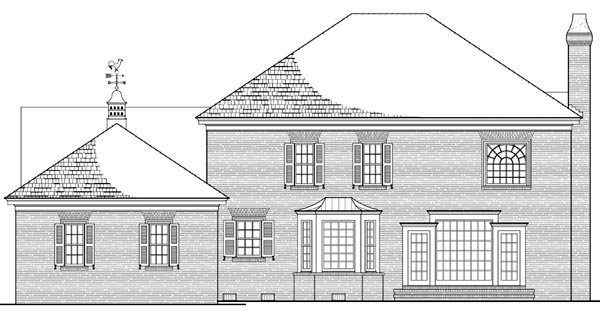 Colonial Southern House Plan 86180 Rear Elevation