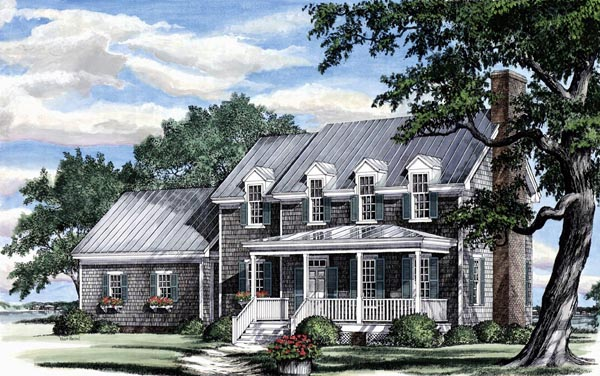 Traditional House Plan 86181 with 3 Beds, 3 Baths, 2 Car Garage Elevation