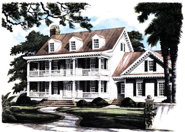 Colonial, Southern House Plan 86182 with 4 Beds, 4 Baths, 2 Car Garage Picture 1
