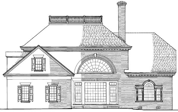 Southern House Plan 86183 Rear Elevation