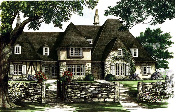 Tudor , European House Plan 86185 with 4 Beds, 6 Baths, 2 Car Garage Elevation
