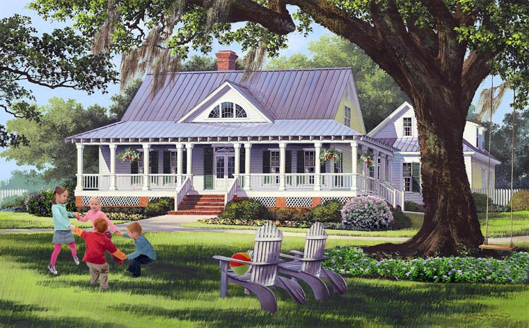 Country Farmhouse Traditional Elevation of Plan 86189