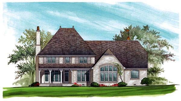 European House Plan 86190 Rear Elevation