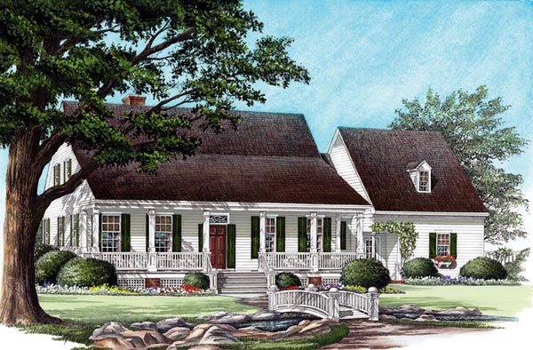 Cottage Country Farmhouse Traditional House Plan 86191 Elevation