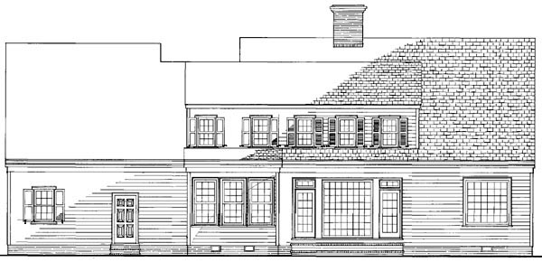 Cottage Country Farmhouse Traditional House Plan 86191 Rear Elevation